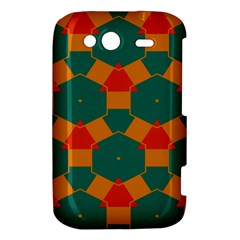 Honeycombs and triangles pattern                                                                                      			HTC Wildfire S A510e Hardshell Case by LalyLauraFLM