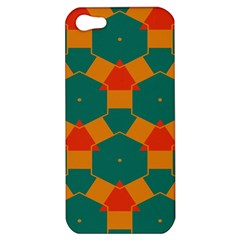 Honeycombs And Triangles Pattern                                                                                      			apple Iphone 5 Hardshell Case by LalyLauraFLM