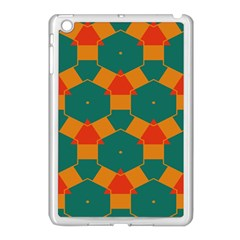Honeycombs And Triangles Pattern                                                                                      apple Ipad Mini Case (white) by LalyLauraFLM