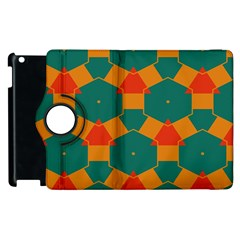 Honeycombs And Triangles Pattern                                                                                      			apple Ipad 2 Flip 360 Case by LalyLauraFLM