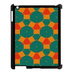 Honeycombs And Triangles Pattern                                                                                      			apple Ipad 3/4 Case (black) by LalyLauraFLM