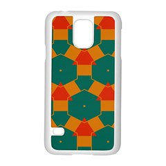 Honeycombs And Triangles Pattern                                                                                      samsung Galaxy S5 Case (white) by LalyLauraFLM