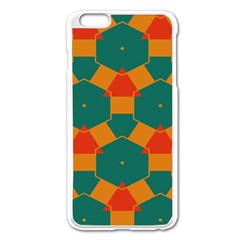 Honeycombs And Triangles Pattern                                                                                      			apple Iphone 6 Plus/6s Plus Enamel White Case by LalyLauraFLM