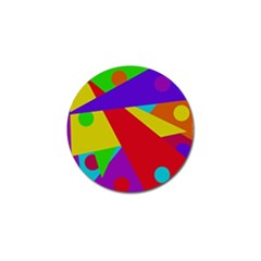 Colorful Abstract Design Golf Ball Marker (10 Pack) by Valentinaart