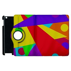 Colorful Abstract Design Apple Ipad 2 Flip 360 Case by Valentinaart