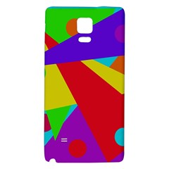 Colorful Abstract Design Galaxy Note 4 Back Case by Valentinaart