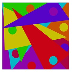 Colorful Abstract Design Large Satin Scarf (square) by Valentinaart