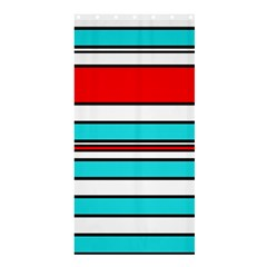 Blue, Red, And White Lines Shower Curtain 36  X 72  (stall)  by Valentinaart