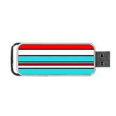 Blue, Red, And White Lines Portable Usb Flash (two Sides) by Valentinaart