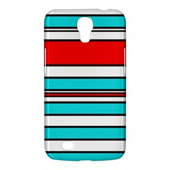 Blue, Red, And White Lines Samsung Galaxy Mega 6 3  I9200 Hardshell Case by Valentinaart