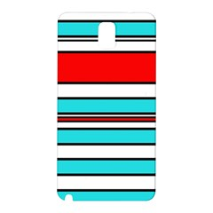 Blue, Red, And White Lines Samsung Galaxy Note 3 N9005 Hardshell Back Case by Valentinaart
