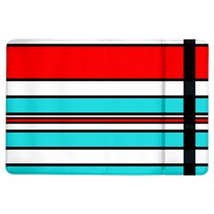 Blue, Red, And White Lines Ipad Air Flip by Valentinaart