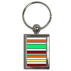 Green, Orange And Yellow Lines Key Chains (rectangle)  by Valentinaart