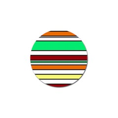 Green, Orange And Yellow Lines Golf Ball Marker (10 Pack) by Valentinaart