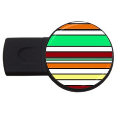 Green, Orange And Yellow Lines Usb Flash Drive Round (2 Gb)  by Valentinaart