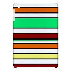 Green, orange and yellow lines Apple iPad Mini Hardshell Case by Valentinaart