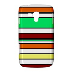 Green, orange and yellow lines Samsung Galaxy Duos I8262 Hardshell Case  by Valentinaart