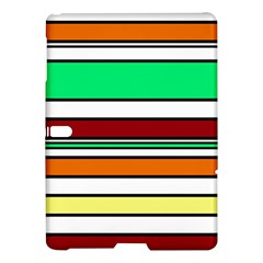 Green, Orange And Yellow Lines Samsung Galaxy Tab S (10 5 ) Hardshell Case  by Valentinaart