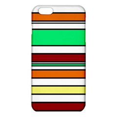 Green, Orange And Yellow Lines Iphone 6 Plus/6s Plus Tpu Case by Valentinaart