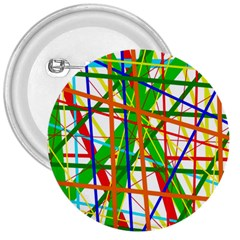 Colorful Lines 3  Buttons by Valentinaart