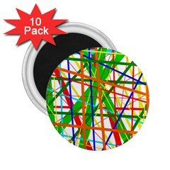 Colorful Lines 2 25  Magnets (10 Pack)  by Valentinaart