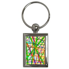 Colorful Lines Key Chains (rectangle)  by Valentinaart