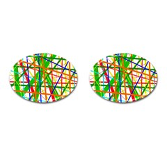 Colorful Lines Cufflinks (oval) by Valentinaart