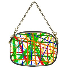 Colorful Lines Chain Purses (one Side)  by Valentinaart