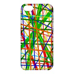 Colorful Lines Apple Iphone 5c Hardshell Case by Valentinaart