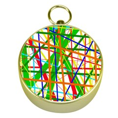 Colorful Lines Gold Compasses by Valentinaart