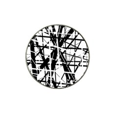 Black And White Abstract Design Hat Clip Ball Marker (10 Pack) by Valentinaart
