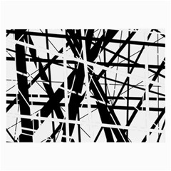 Black And White Abstract Design Large Glasses Cloth by Valentinaart