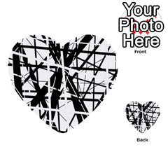 Black And White Abstract Design Multi Purpose Cards (heart)  by Valentinaart