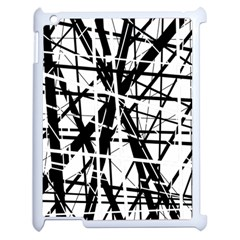 Black And White Abstract Design Apple Ipad 2 Case (white) by Valentinaart