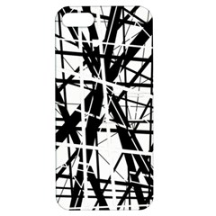 Black And White Abstract Design Apple Iphone 5 Hardshell Case With Stand by Valentinaart