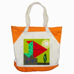 Abstract Bird Accent Tote Bag by Valentinaart