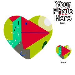 Abstract Bird Multi Purpose Cards (heart)