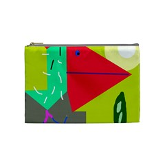 Abstract Bird Cosmetic Bag (medium)  by Valentinaart