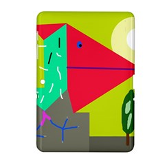 Abstract Bird Samsung Galaxy Tab 2 (10 1 ) P5100 Hardshell Case  by Valentinaart