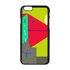 Abstract Bird Apple Iphone 6/6s Black Enamel Case by Valentinaart