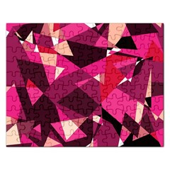 Red Broken Glass Rectangular Jigsaw Puzzl by Valentinaart