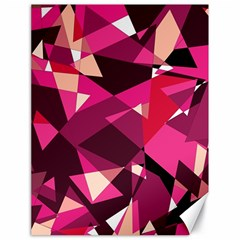 Red Broken Glass Canvas 18  X 24   by Valentinaart