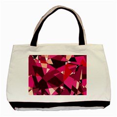Red Broken Glass Basic Tote Bag (two Sides) by Valentinaart