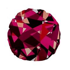 Red Broken Glass Standard 15  Premium Round Cushions by Valentinaart
