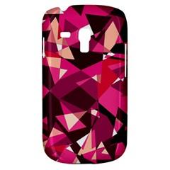 Red Broken Glass Samsung Galaxy S3 Mini I8190 Hardshell Case by Valentinaart