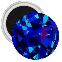 Blue Broken Glass 3  Magnets by Valentinaart
