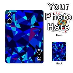 Blue broken glass Playing Cards 54 Designs  by Valentinaart