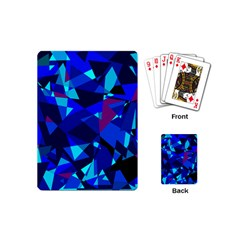 Blue Broken Glass Playing Cards (mini)  by Valentinaart