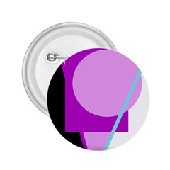 Purple geometric design 2.25  Buttons by Valentinaart