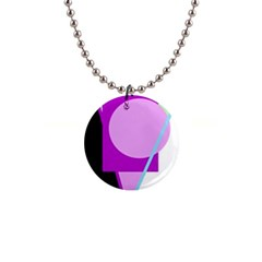 Purple Geometric Design Button Necklaces by Valentinaart